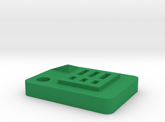 Google Sheets Icon (size: Tiny) for Keychain / Cha in Green Processed Versatile Plastic