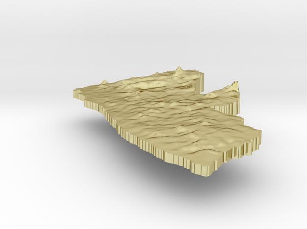 Liberia Terrain Silver Pendant 3d printed