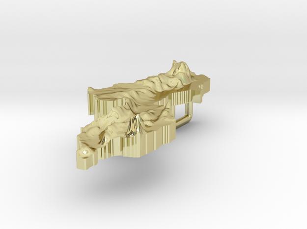 Malawi Terrain Silver Pendant 3d printed
