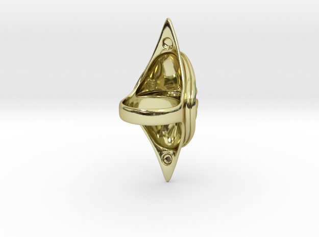 Zig Zag Saddle Ring 3d printed