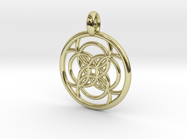 Amalthea pendant in 18K Gold Plated