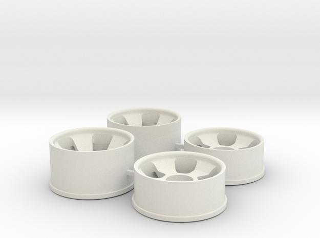Ver2 0.5 Offset in White Natural Versatile Plastic