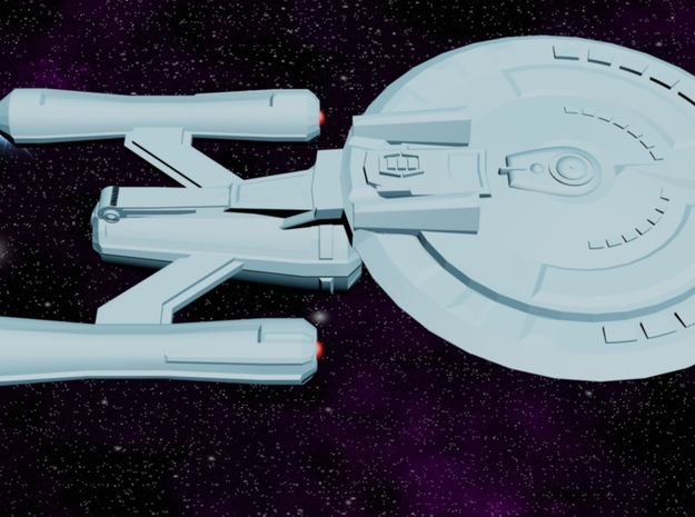 USS Oracle (Shadow Class) in White Processed Versatile Plastic