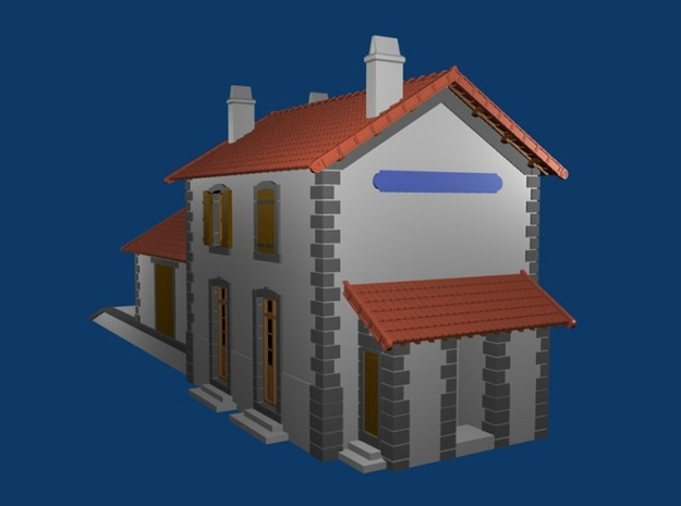 Gare CfD - Roof + Details ( Nm Gauge ) 3d printed render of completed model