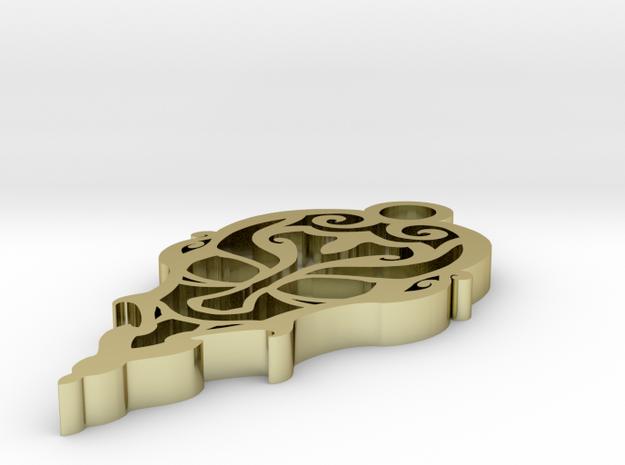 Conte Dracula Tribal 1.5 inch Pendant 3d printed