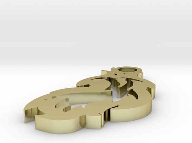 Single Dragon Flame 1.5 inch Pendant 3d printed