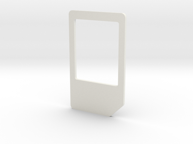 Micro Mini Sim Adapter in White Strong & Flexible