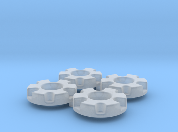 1/64 Wheel Weights Inner (4 Pieces)  in Smooth Fine Detail Plastic