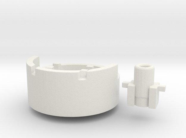 Heavy Mortar #1 (n-scale) in White Natural Versatile Plastic