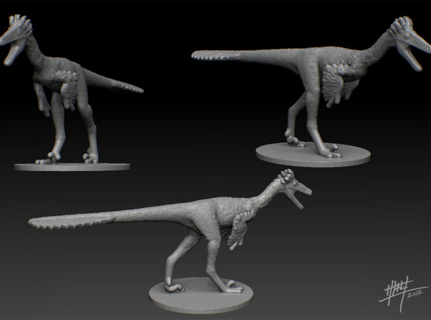 Troodon 1/40 (WSF version) in White Natural Versatile Plastic