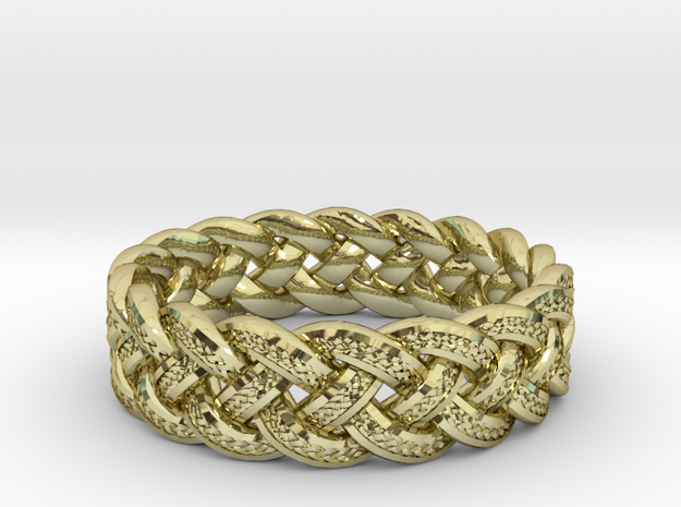 Best Celtic Knot Ring yet - size 10 3d printed