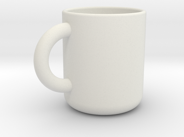 Cup A in White Natural Versatile Plastic