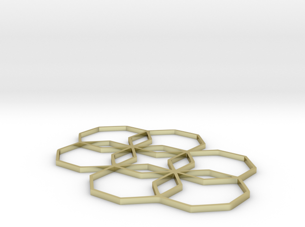 Octagon Star - In: 3.5 w x 3.0 d x 0.1 h 3d printed