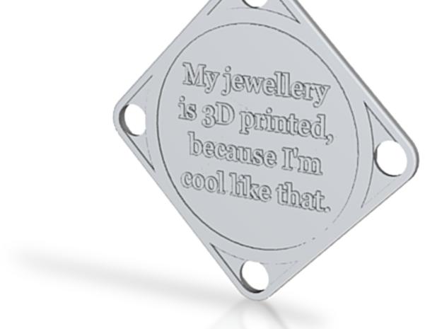 Georgia 3D Printed Pendant 3d printed