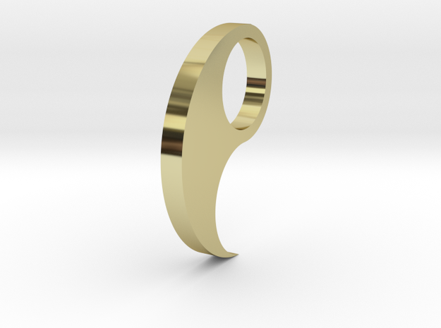 The-sea-tiger-ring-flat-size-10 3d printed