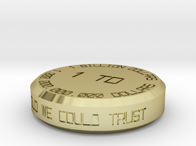 Expensive Billion Dollar Coin 3d printed