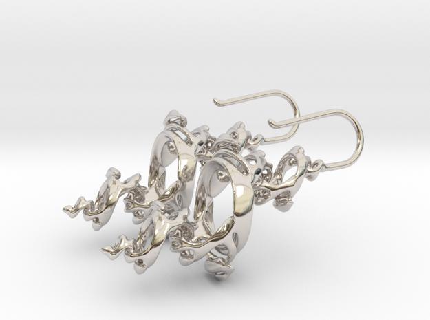Julia Earrings 3d printed
