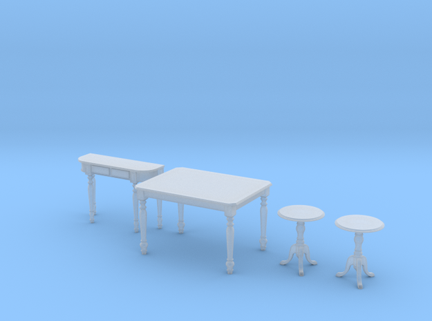 1:48 Colonial Table Set 3d printed