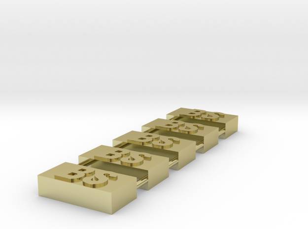 Brass Samples 3d printed