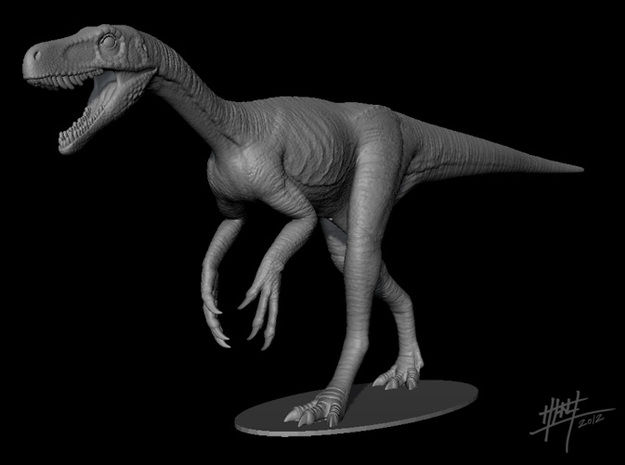 Herrerasaurus walk 1/12 in White Natural Versatile Plastic