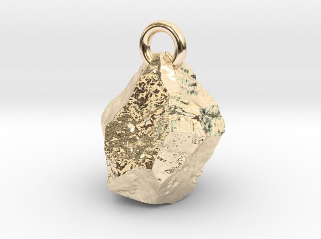 Rock pendant in 14K Yellow Gold