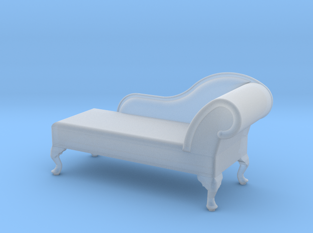 1:48 Queen Anne Chaise (Left Facing) in Smooth Fine Detail Plastic