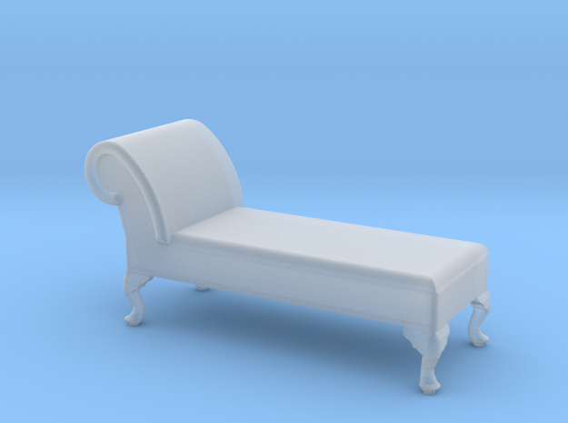 1:48 Queen Anne Chaise (No Back) in Smooth Fine Detail Plastic