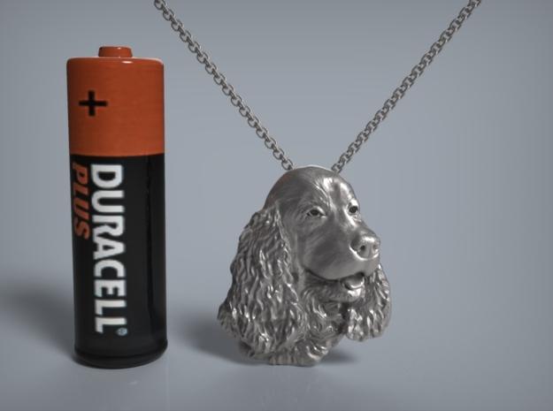 Cocker Spaniel Pendant. 3d printed