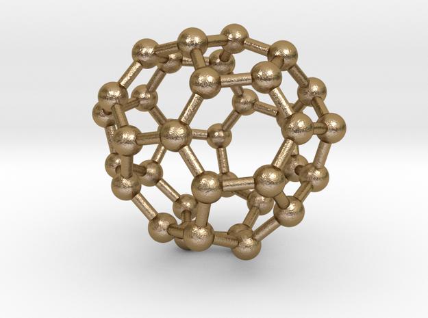 0038 Fullerene c36-10 c2 in Polished Gold Steel