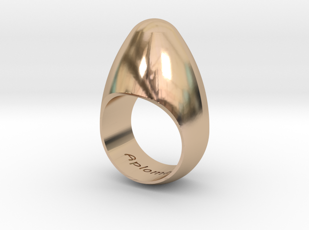 Egg Ring Size 10 in 14k Rose Gold Plated Brass