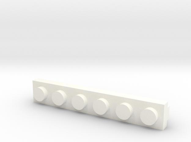 Brick Tie Clip-6 Stud 3d printed