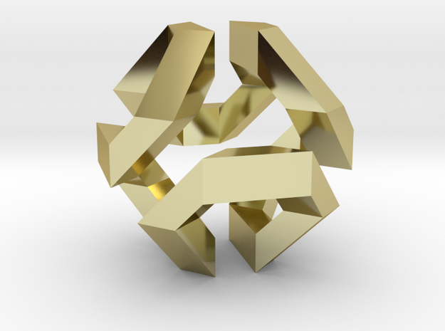 Hamilton Cycle on Truncated Octahedron 3d printed