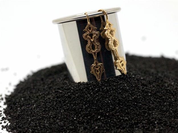 """GREEK """"Σ' Αγαπώ"""" Sound Wave Earrings in Premium Silver"""