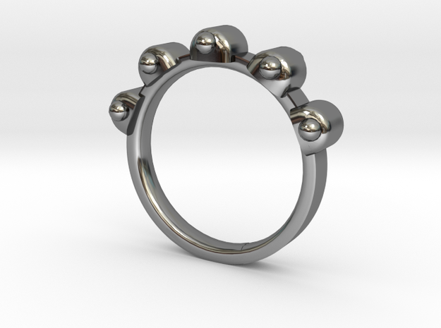 Jester Ring - Sz. 6 in Fine Detail Polished Silver