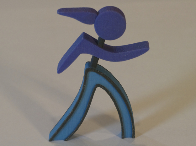 Athletes - Runner Woman in Full Color Sandstone
