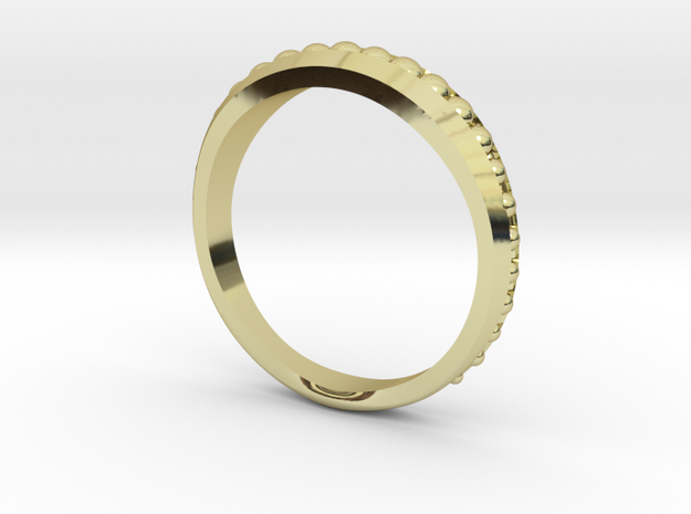 Ring Size 7 in Polished Brass