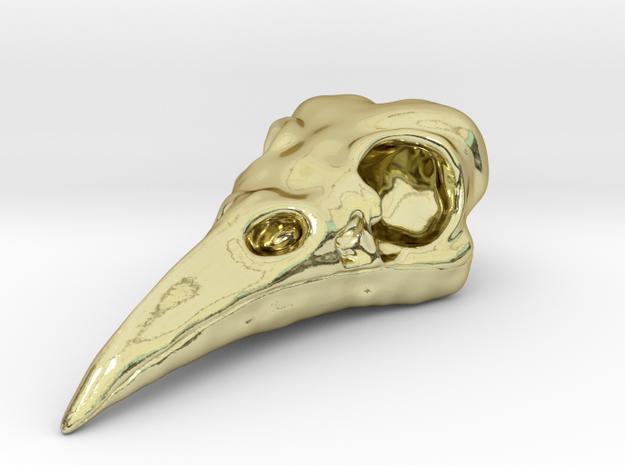Raven Skull Pendant 3d printed