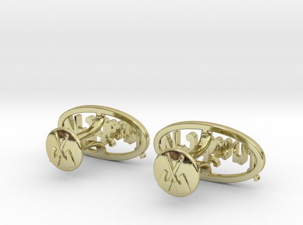Custom Monogram Cufflinks - Tawiwat 3d printed