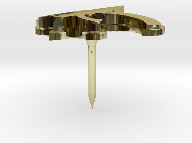 Fleur de Lis (GOLD FRONT) 3d printed