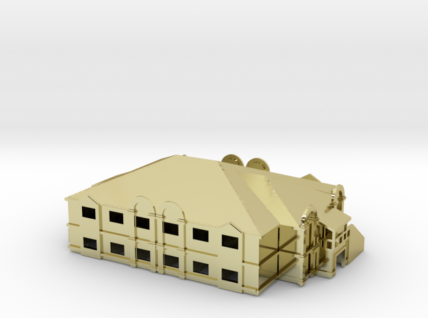 Country Hotel 3d printed