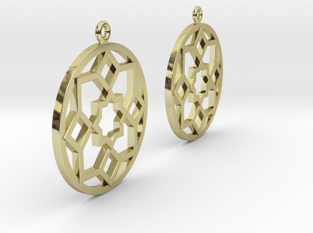 Boucles d'oreilles inspiration Maroc 3d printed