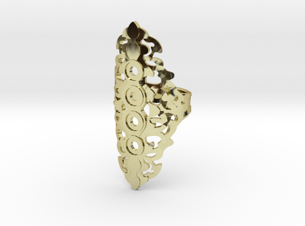 BlakOpal Gothic Filligree Ring - size 8 3d printed