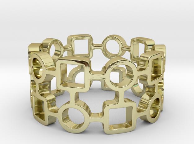 Circles & Squares Ring 3d printed