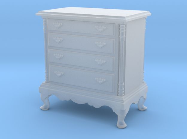 1:48 Queen Anne Dresser in Smooth Fine Detail Plastic
