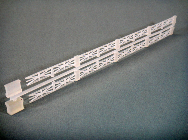 Large-star railing HO 3d printed Star Railing HO printed with Frosted Detail material.