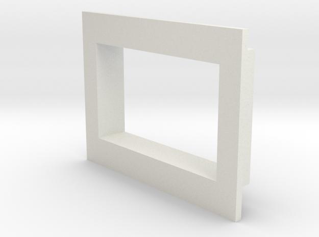 Square .36 Voltmeter Bezel in White Natural Versatile Plastic