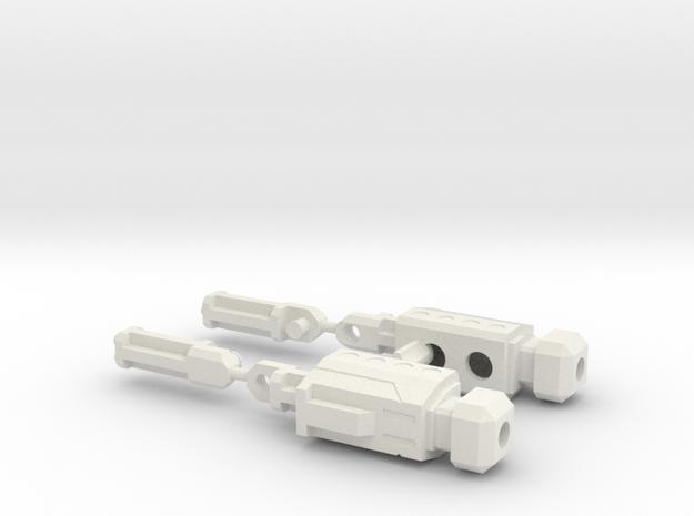 Boosti-Blaze Connector--V1c in White Natural Versatile Plastic