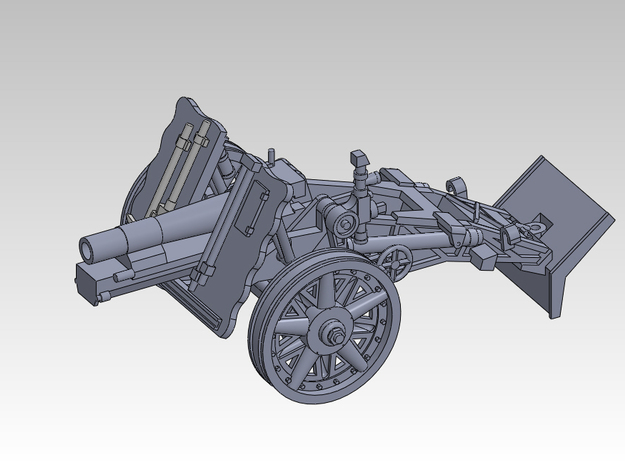 1/144 sIG33 15cm Heavy infantry cannon 3d printed