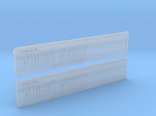 Fascia Ad Panels for Sydney P Class Tram O Gauge in Smooth Fine Detail Plastic