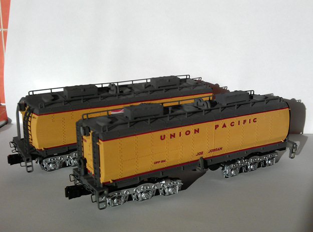 UP Water Tender O Scale 1:48 Jim & Joe in Smooth Fine Detail Plastic